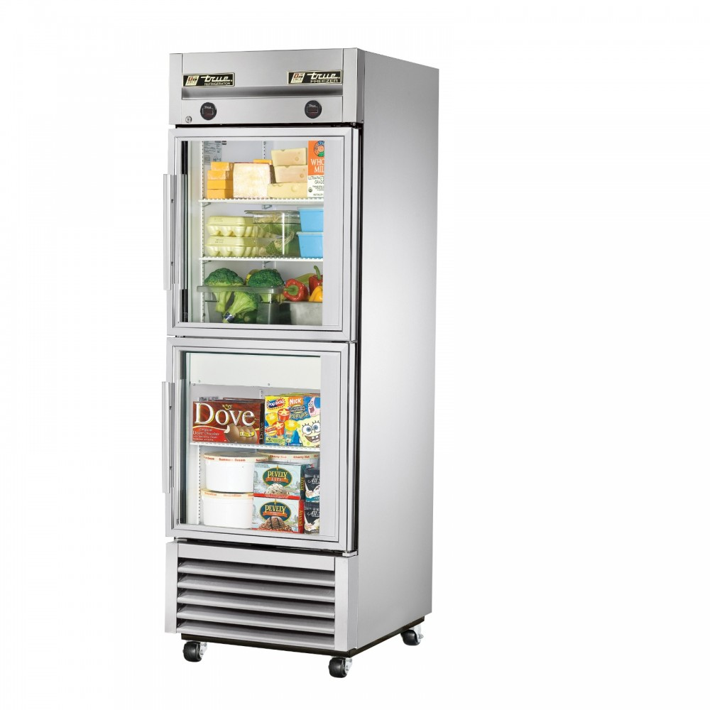 Design Fridge With Glass Door true t 23dtg single half glass door dual temperature refrigerator 23dt g freezer