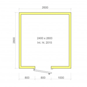 100mm walk in cold room with floor 2400mm x 2600mm x 2015mmh