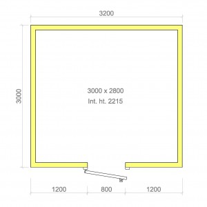 100mm walk in cold room with floor 3000mm x 2800mm x 2215mmh