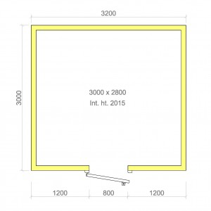 100mm walk in cold room without floor 3000mm x 2800mm x 2015mmh