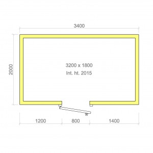 100mm walk in cold room without floor 3200mm x 1800mm x 2015mmh