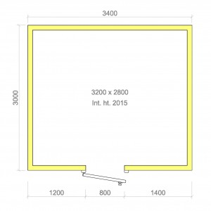 100mm walk in cold room without floor 3200mm x 2800mm x 2015mmh