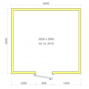 100mm walk in cold room without floor 3200mm x 3000mm x 2415mmh