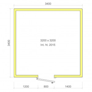 100mm walk in cold room without floor 3200mm x 3200mm x 2015mmh