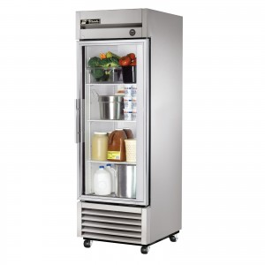 True T-23G single glass door commercial refrigerator