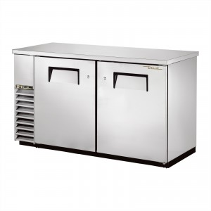 True TBB-24-60-S back bar cooler with solid stainless steel doors