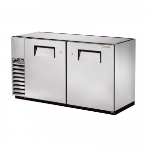 True TBB-24GAL-60-S back bar cooler with solid stainless steel doors