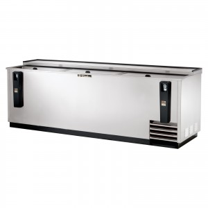 True TD-95-38-S stainless steel horizontal bar chest fridge