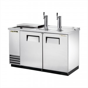 True TDD-2CT-S club top stainless steel direct draw beer dispenser