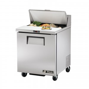 True TSSU-27-8 one-door sandwich prep table refrigerator