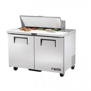 True TSSU-48-10 two-door sandwich prep table refrigerator