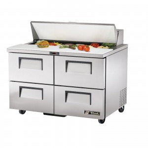 True TSSU-48-12D-4 four-drawer sandwich prep table refrigerator