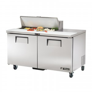 True TSSU-60-10 two-door sandwich prep table refrigerator