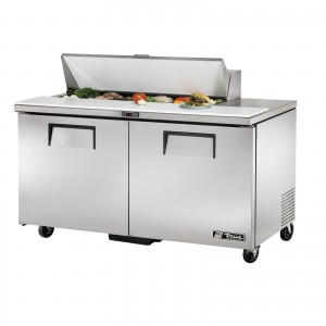 True TSSU-60-12 two-door sandwich prep table refrigerator
