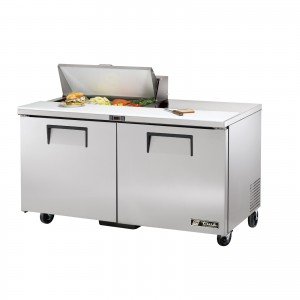 True TSSU-60-8 two-door sandwich prep table refrigerator