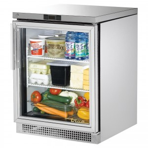 True TUC-24G one glass door under counter prep table refrigerator