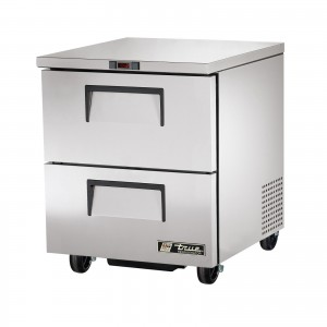 True TUC-27D-2 two-drawer under counter prep table refrigerator