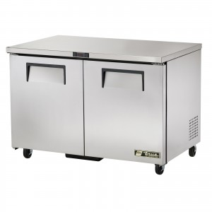 True TUC-48 two-door under counter prep table refrigerator