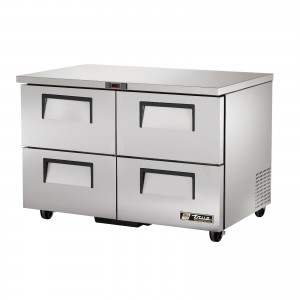 True TUC-48D-4 four-drawer under counter prep table refrigerator