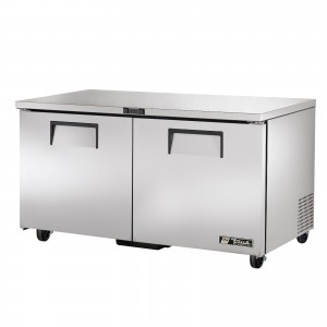 True TUC-60 two-door under counter prep table refrigerator