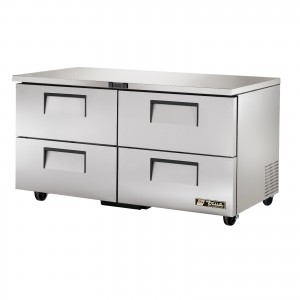 True TUC-60D-4 four-drawer under counter prep table refrigerator