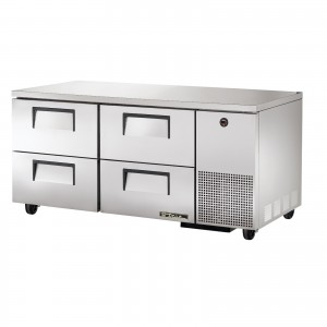 True TUC-67D-4 four-drawer deep under counter prep table refrigerator