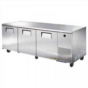 True TUC-93 three-door deep under counter prep table refrigerator
