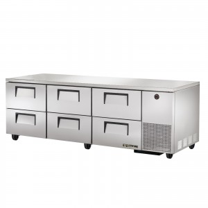 True TUC-93D-6 six-drawer deep under counter prep table refrigerator