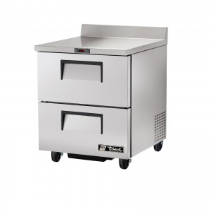 True TWT-27D-2 two-drawer worktop prep table refrigerator