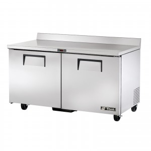 True TWT-60F two-door worktop prep table freezer