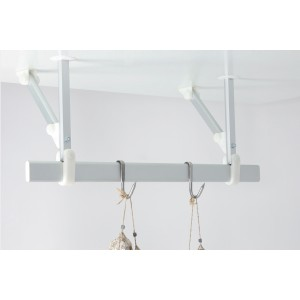 2m ceiling-mounted hooked bar