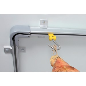 2m ceiling-mounted sliding hooked bar