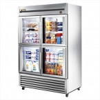 True T-49G-4 double half glass door commercial refrigerator