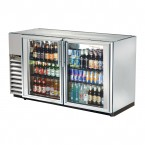 True TBB-24GAL-60G-S back bar cooler with stainless steel glass doors