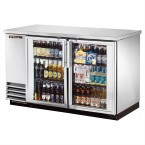 True TBB-2G-S back bar cooler with stainless steel glass doors