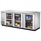 True TBB-4G-S back bar cooler with stainless steel glass doors