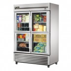 True TS-49G-4 double half glass door commercial refrigerator