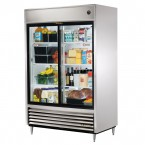 True TSD-47G double glass slide door commercial refrigerator