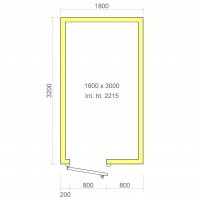 Europa 100mm walk in cold room without floor 1600mm x 3000mm x 2215mmh