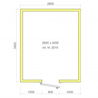 Europa 100mm walk in cold room without floor 2600mm x 3200mm x 2015mmh