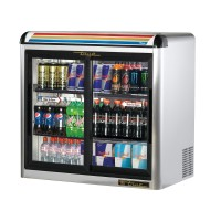 TRUE GDM-9E-S back bar compact cooler with undercounter glass doors