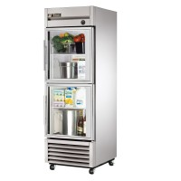 TRUE T-23G-2 reach-in refrigerator, two glass half doors