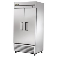 TRUE T-35F reach-in freezer, two stainless steel doors