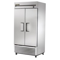TRUE T-35FZ reach-in freezer, two stainless steel doors