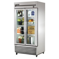 TRUE T-35G reach-in refrigerator, two glass doors