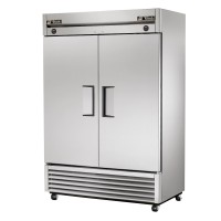TRUE T-49DT dual temperature refrigerator/freezer, two stainless steel doors
