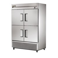 TRUE T-49F-4 reach-in freezer, four stainless steel half doors