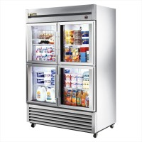 TRUE T-49G-4 reach-in refrigerator, four glass half doors