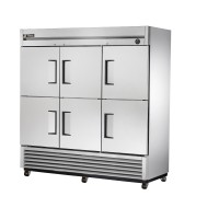 TRUE T-72-6 reach-in refrigerator, six stainless steel half doors