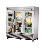 TRUE T-72G reach-in refrigerator, three glass doors